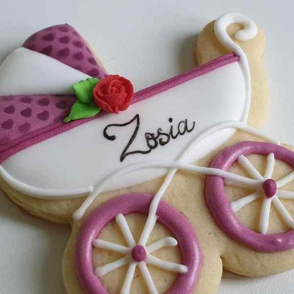 podziękowania na chrzest, personalizowane ciasteczka na chrzest, lukrowane ciasteczka zaproszenia Basia sweets