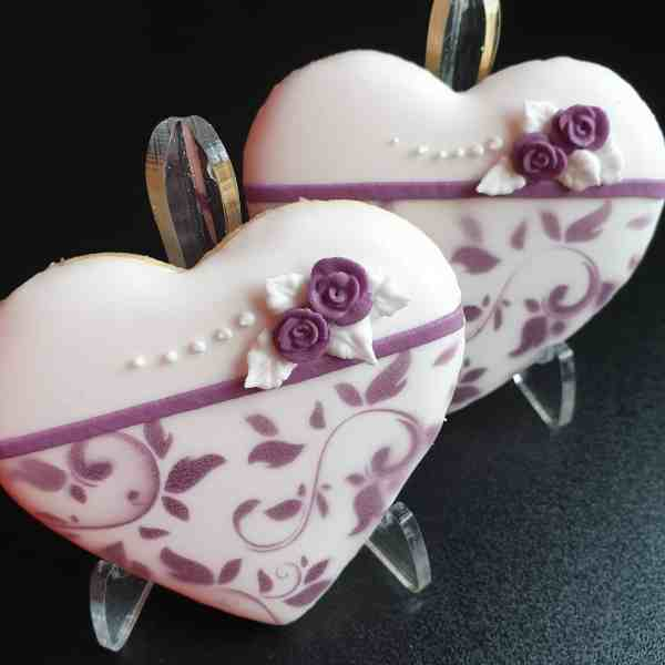 Ciasteczka ślubne, podziękowania dla gości, personalizowane ciastka Basia sweets