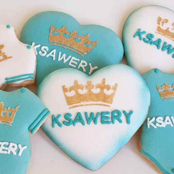 Ciasteczka na chrzest, podziękowania chrzest, ciastka personalizowane, lukrowane ciasteczka - Basia sweets
