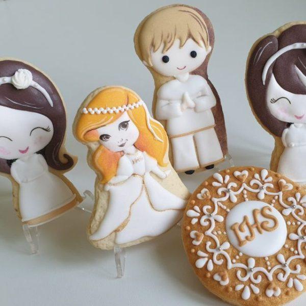Ciasteczka na komunię, podziękowania dla gości komunia, Lukrowane ciasteczka Basia sweets