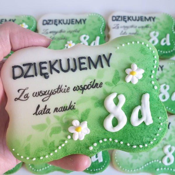 Koniec roku szkolnego, podziękowania dla nauczycieli, Lukrowane ciasteczka Basia sweets