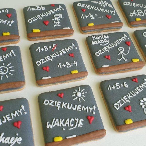 Ciasteczka szkolne dla uczniów i nauczycieli, Koniec roku szkolnego, podziękowanie dla nauczycieli, Lukrowane ciasteczka Basia sweets