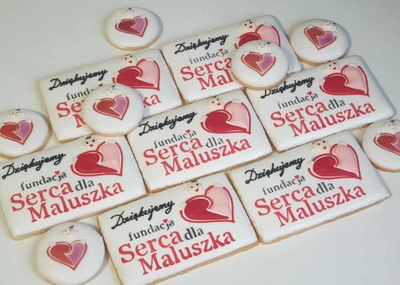 Lukrowane ciasteczka, ciastka reklamowe, fundacja serca dla maluszka, dekorowane ciasteczka Basia sweets