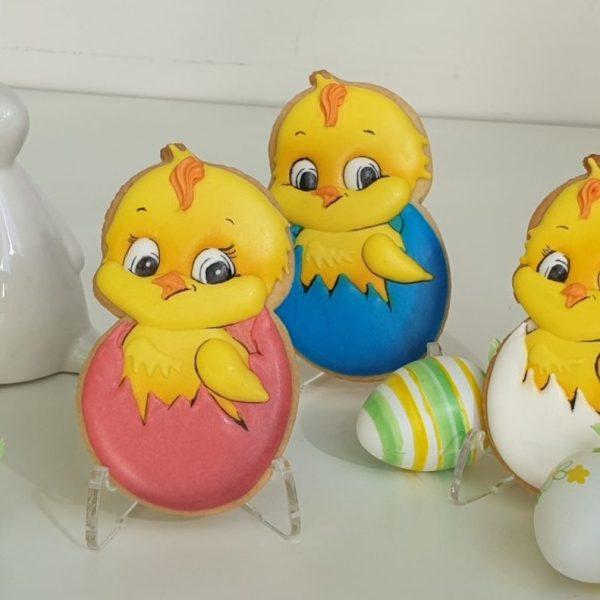 kurczaczek wielkanocny, lukrowane ciasteczka wielkanocne, dekoracje wielkanocne Basia sweets