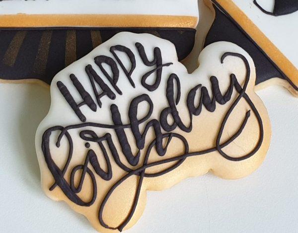 ciasteczka urodzinowe - happy birthday, ciastka na urodziny - Basia sweets