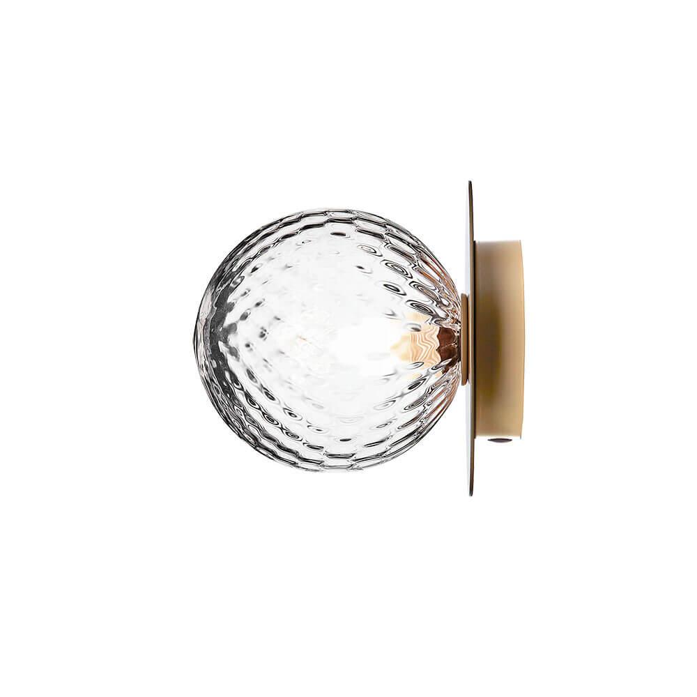 Vegglampe: Liila 1 Vegglampe/Taklampe Nordic Gold/Optic Clear - Nuura