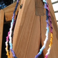 Knotted Yarn Necklace Tutorial