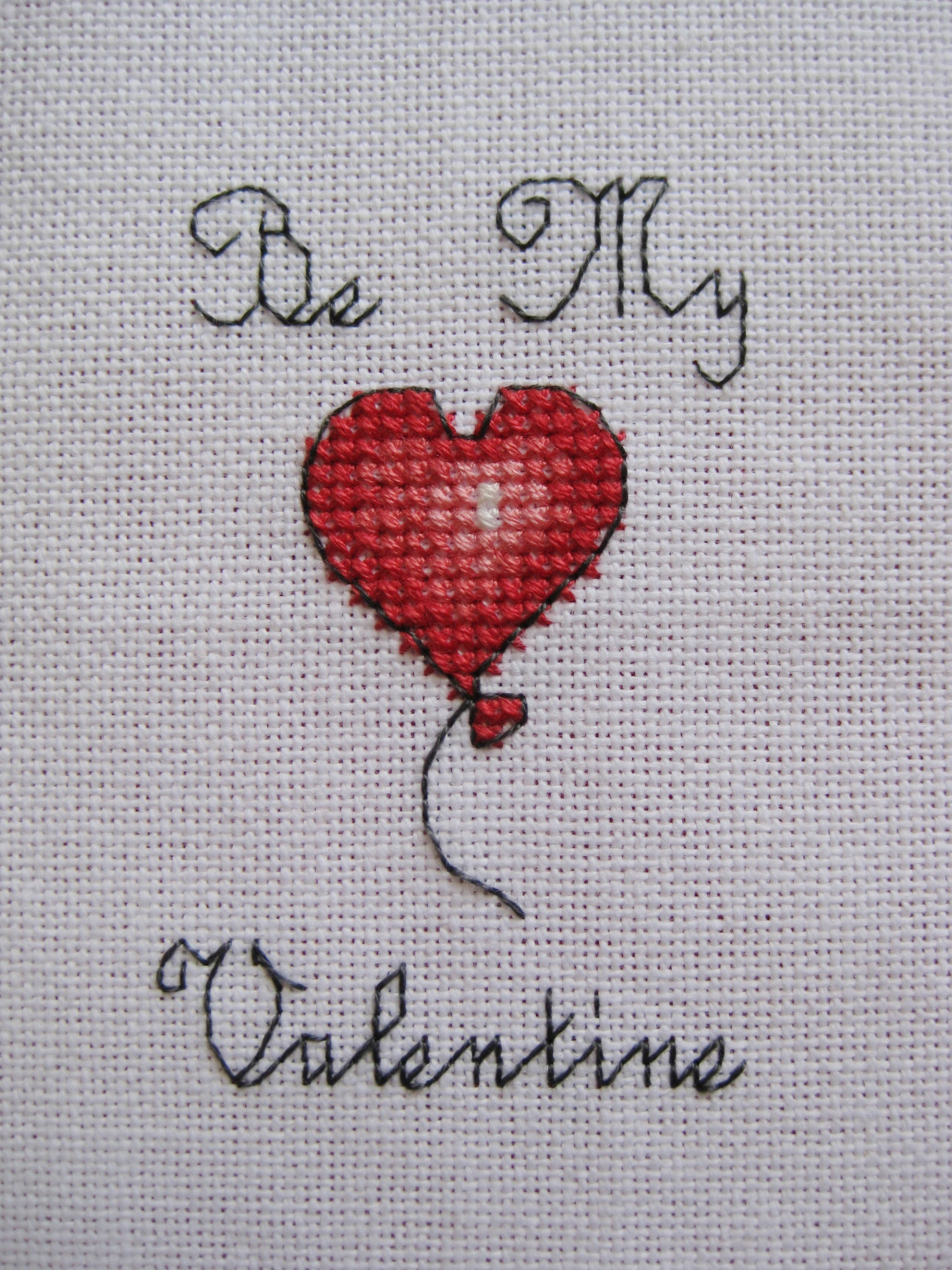 Be My Valentine Cross Stitch Card Tutorial