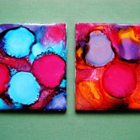Ink Splatter Coasters
