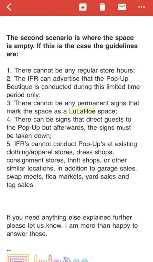 LuLaRoe retail locations