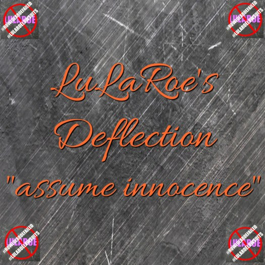 lularoe assume innocence