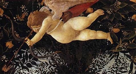 botticelli Sopra di lei vola il figlio Cupido