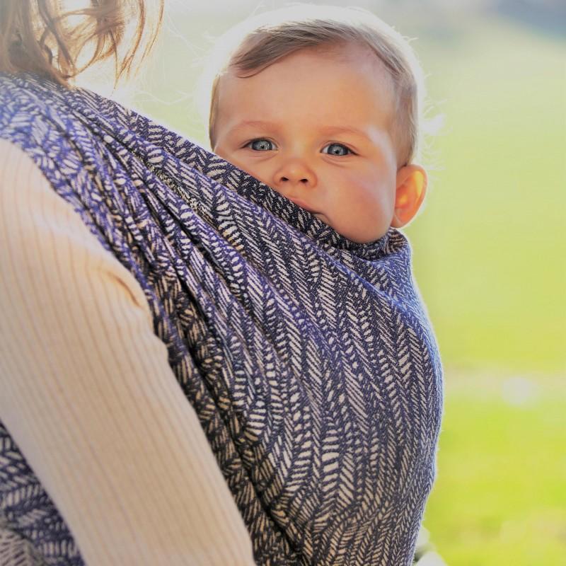 écharpe de portage néobulle dès la naissance coton bio soutenante confortable made in france