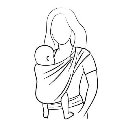 écharpe de portage tissée bébé porte-bébé dès la naissance