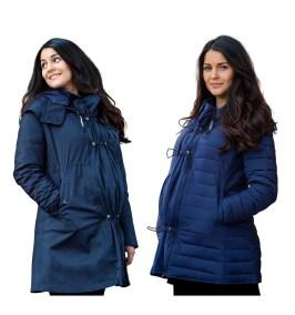 Manteau de portage 3 en 1 imperméable veste doudoune Kowari - Wombat & Co - grossesse maternité femme enceinte