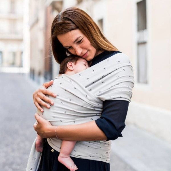 Echarpe de portage rapide facile - Baby on Earth - Crosses