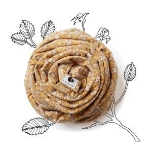 Echarpe de portage nouveau-né - Coracor - Tinyflower honey facile à utiliser coton bio elastique jersey