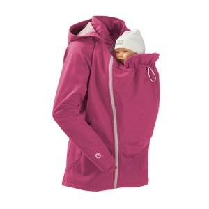 mamalila veste de portage et grossesse femme enceinte softshell mamalila rose