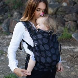porte-bébé kinder hop dark grey dots évolutif réglable