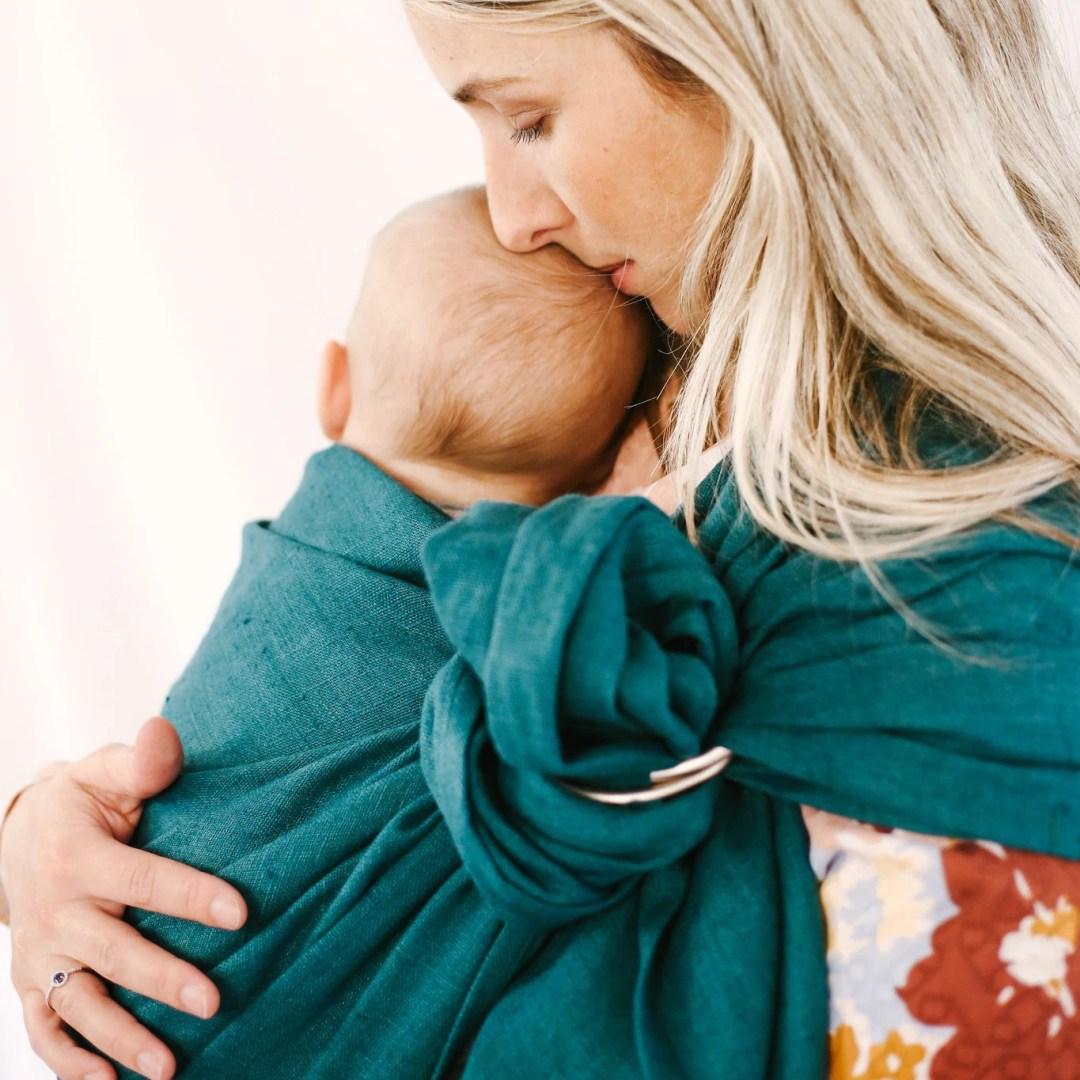 Sling - Bud & Blossom - Pilea écharpe de portage bébé porte-bébé sans noeud facile