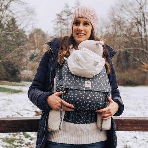 porte-bébé limas flex blue hope évolutif réglable coton bio de 2 mois à 2 ans