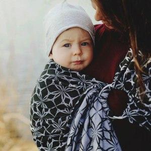 little frog sling écharpe de portage sans noeud porter bébé dès la naissance facile rapide pratique tissé coton oekotex physiologique