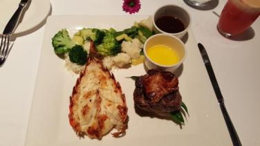 lobster and filet was superb