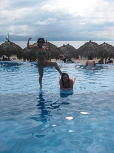 Enjoying the pool in Mazatlan.