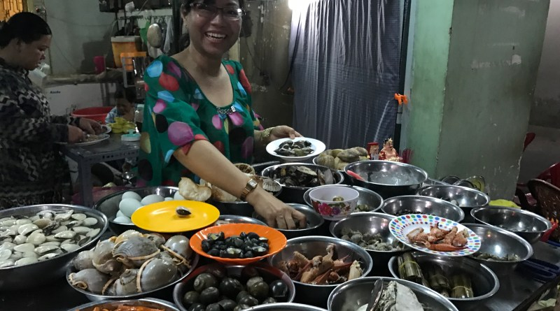 Eating Snails in Ho Chi Minh City
