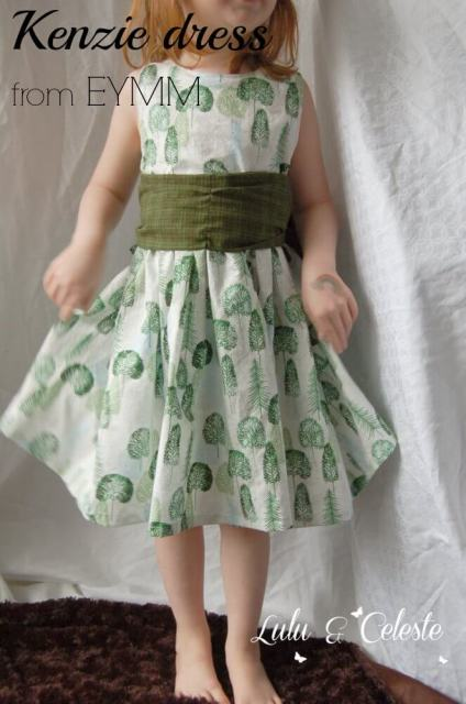 Kenzie party dress from EYMM sewn by Lulu&Celeste