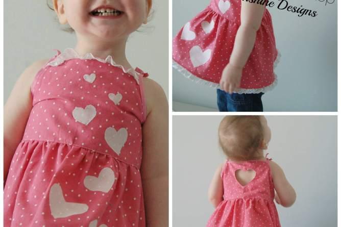 Holiday Cutout Dress sewn by Lulu&Celeste