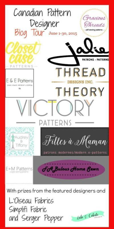 Canadian Pattern designer blog tour info