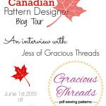 Canadian Pattern Designer blog tour: Interview with Gracious Threads