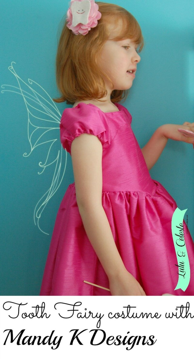 Tooth fairy costume sewn by Lulu & Celeste