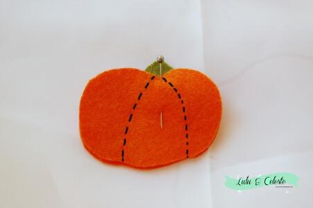 Pumpkin finger puppet step 3