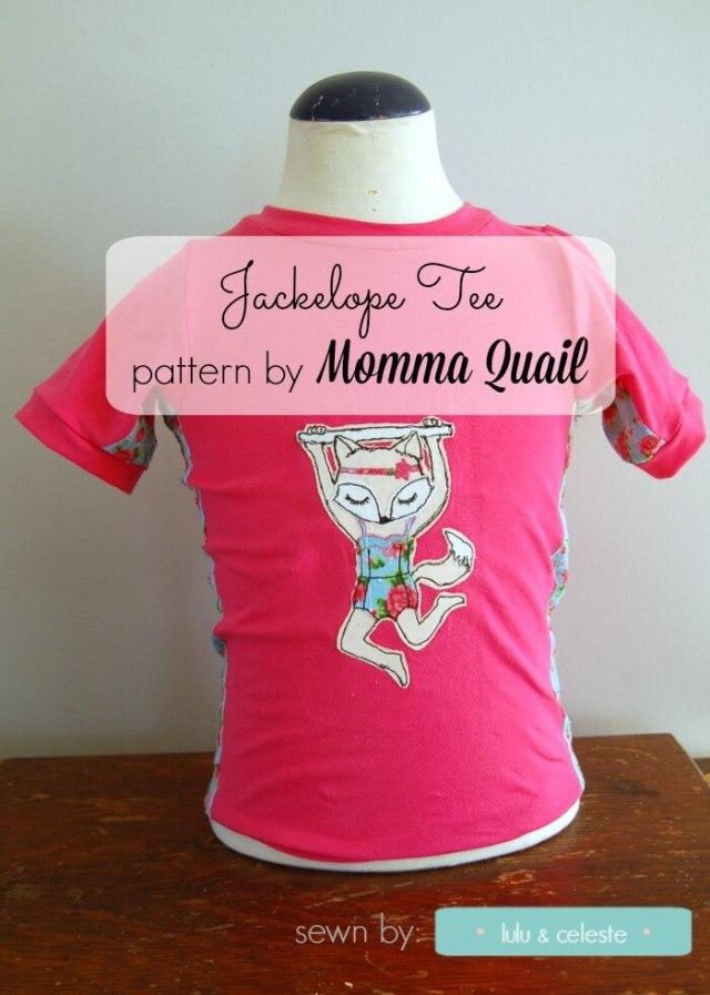 Jackalope tee sewn by Lulu & Celeste cover