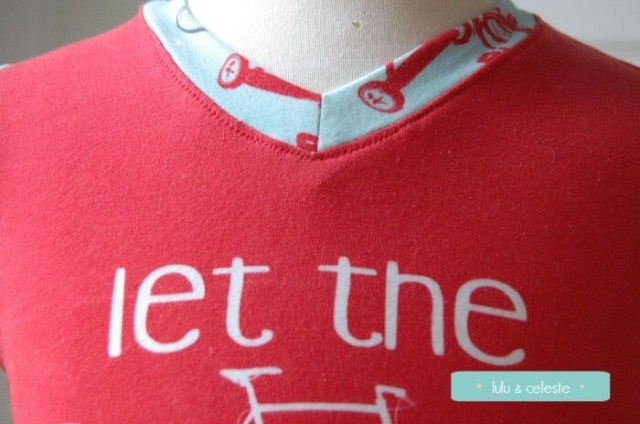 ADVTee v-neck sewn by Lulu & Celest