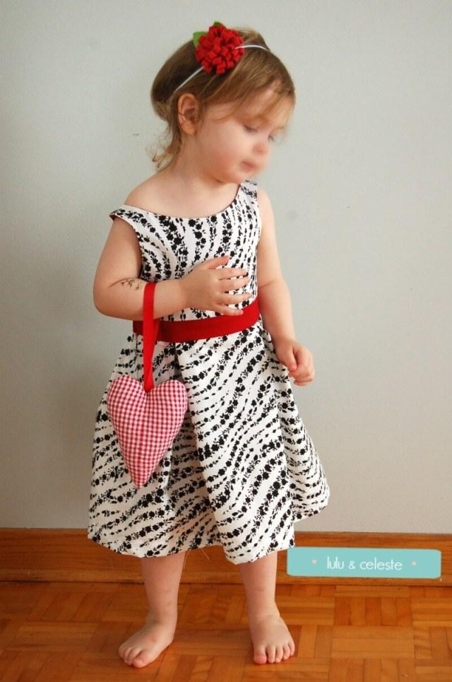 Bateau Garden dress pattern sewn by Lulu & Celeste