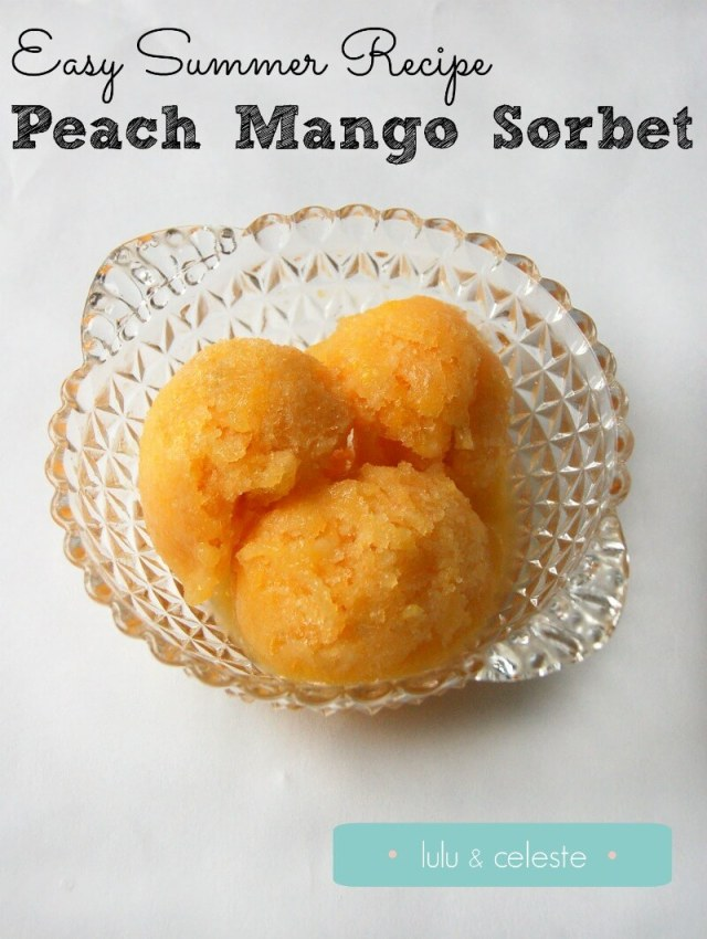 Peach Mango Sorbet Recipe