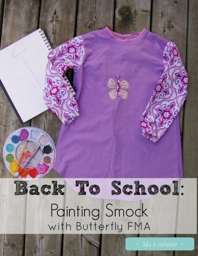 Painting smock for Back to School sewn by Lulu & Celeste