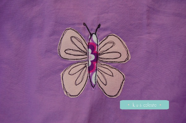 butterfly free motion applique
