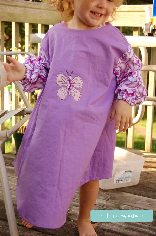 Painting smock sewn by Lulu & Celeste