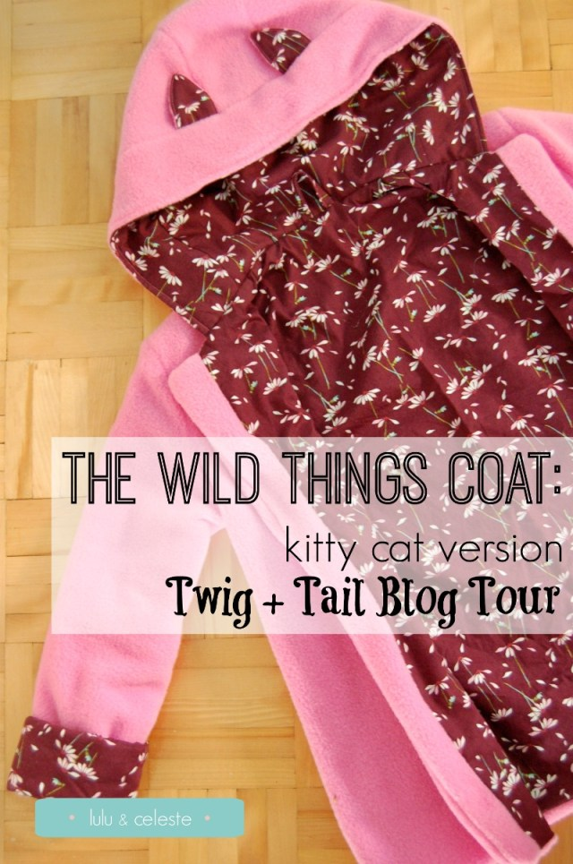 Wild Things coat pattern by Twig + Tale sewn by Lulu and Celeste
