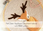 Tutorial: Felt deer applique ornament