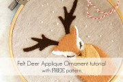 Deer applique embroidery hoop ornament or wall decor tutorial by Lulu & Celeste