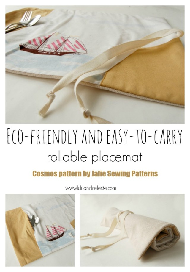 Cosmos placemat sewing pattern sewn by Lulu & Celeste