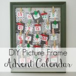 DIY Picture frame advent calendar
