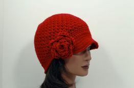 Upcycled Newsboy Hat