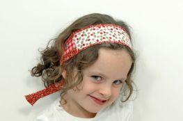 Upcycled Frayed Fabric Headband