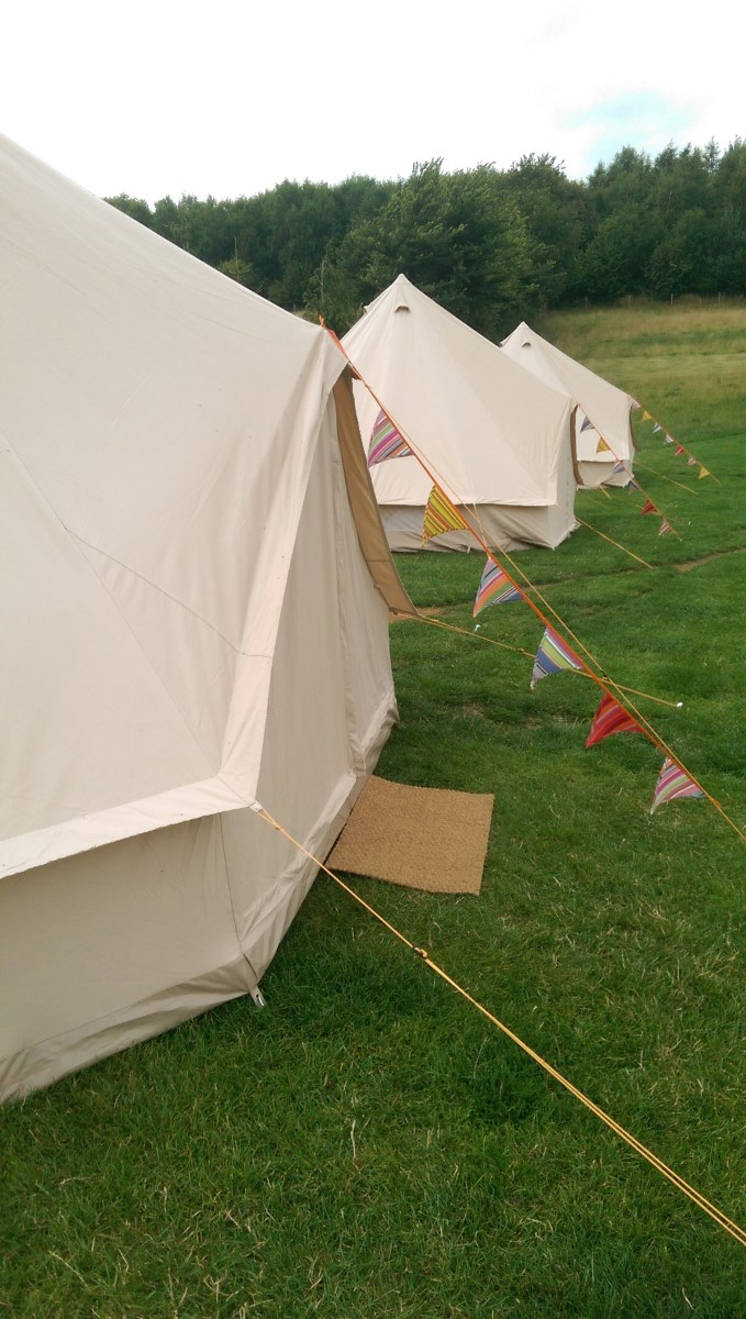 Canvas-bell-tents-bunting-and-doormat